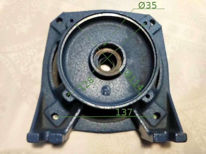 Фланцевая опора насоса UNIPUMP, Ocean Jet80/100 кольцо 28 мм