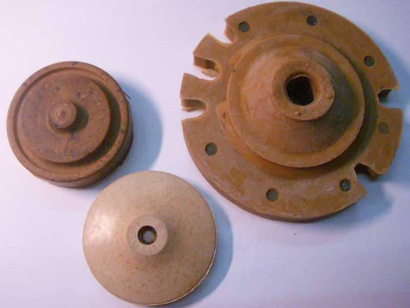 Комплект амортизатор, клапан-пряник, поршень для вибронасоса Водолей