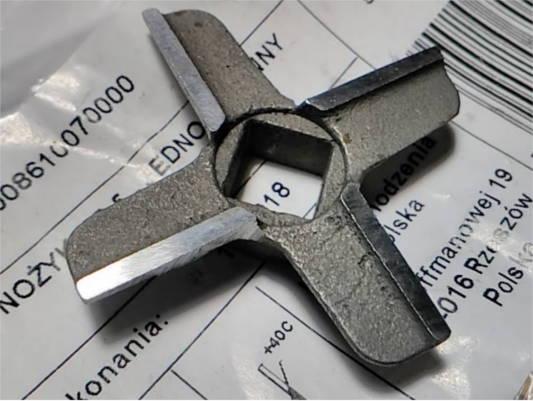 Оригинальный нож d46.5*9x9 на мясорубку Zelmer Diana typ 886.5