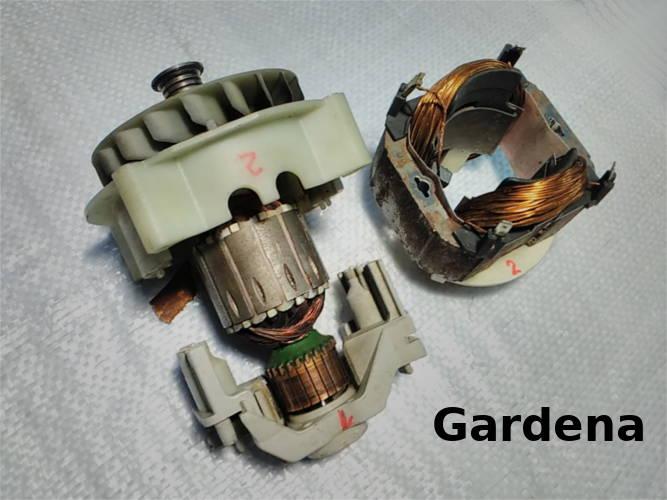 Ремонт двигателя электрокосилки Gardena Powermax 37e 4075-20