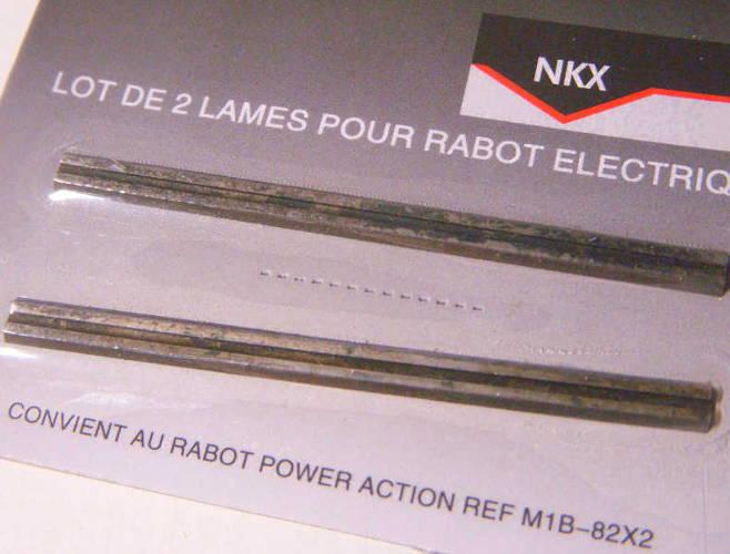 Узкие ножи NB-82X2-S электрорубанка для сосны