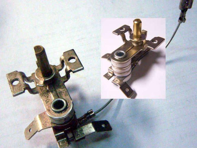 Биметаллический терморегулятор для электродуховки DEX, Asel, Saturn