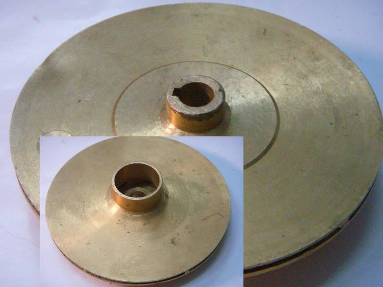 Латунное колесо ∅127-128 мм для насосной станции Taifu, JET100A, Дніпро-М, Omnigena