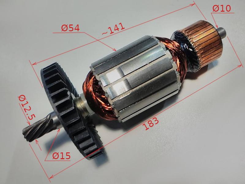 Якорь 54 z9 торцовочной электропилы PowerCraft, Domotec, Einhell KGSZ 300