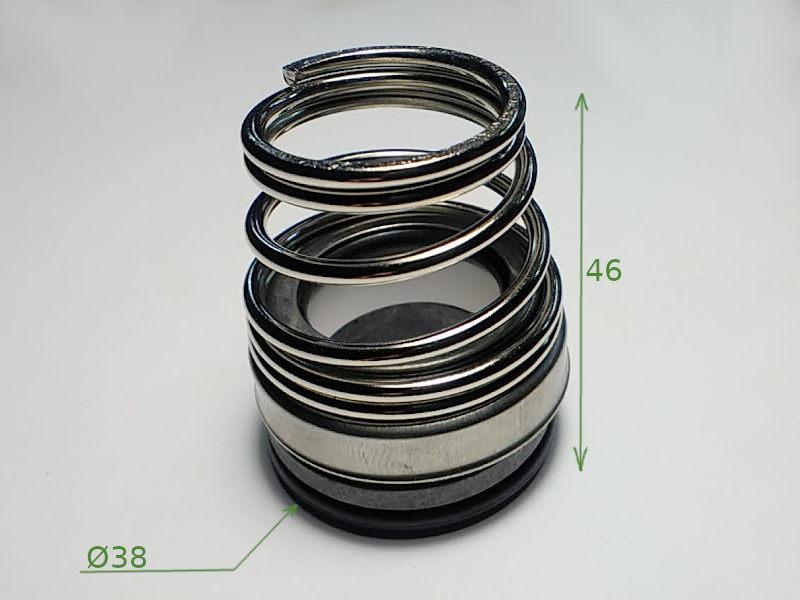 Торцевое пружинное уплотнение с конической пружиной на вал 25 мм