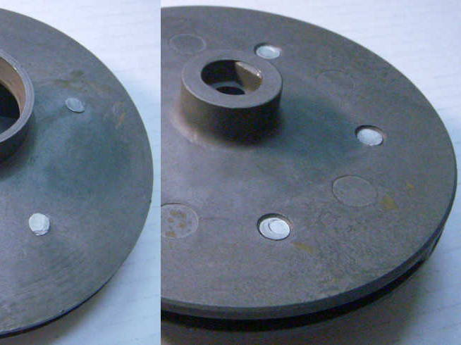 Анодированное рабочее колесо 130 мм под жигулевский сальник для насоса БЦН 1.1