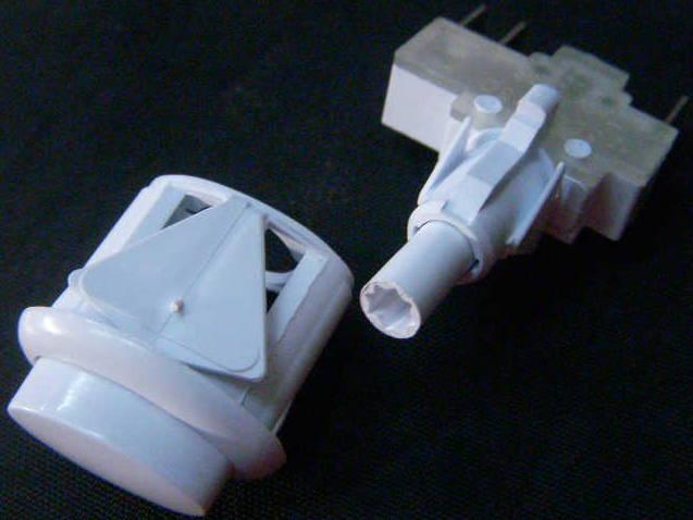 Узкая кнопка розжига газовой плиты Гефест на 3 контакта