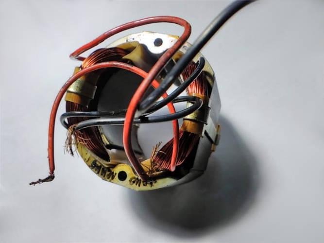 Ремонт статора 72*43-54.5 на болгарку Монолит МШУ 4-1600