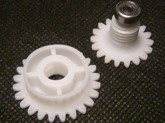 Шестерни маслоподачи электропилы Rebir КZ5-350/400, Атлант, Eurotec, Craft-Men