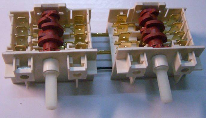 Сдвоенный переключатель электроплиты Gorenje на болтах