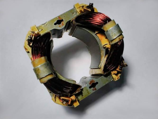Ремонт статора L40*d49 цепной электропилы Forte FES 24-40