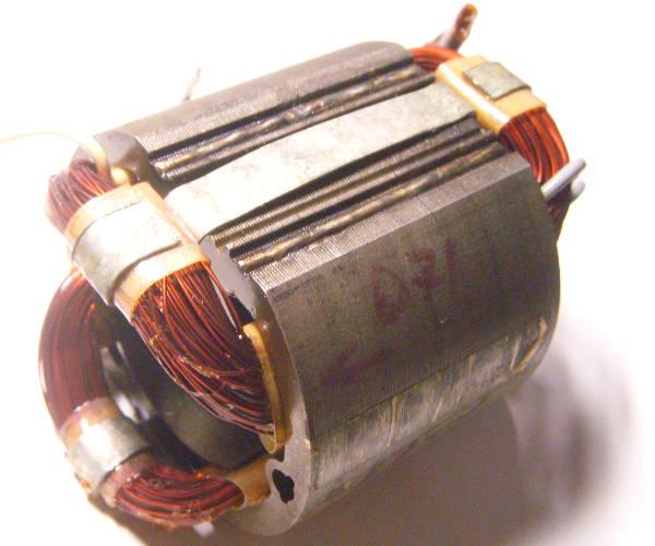 Ремонт статора торцовочной пилы Forte PT 4406