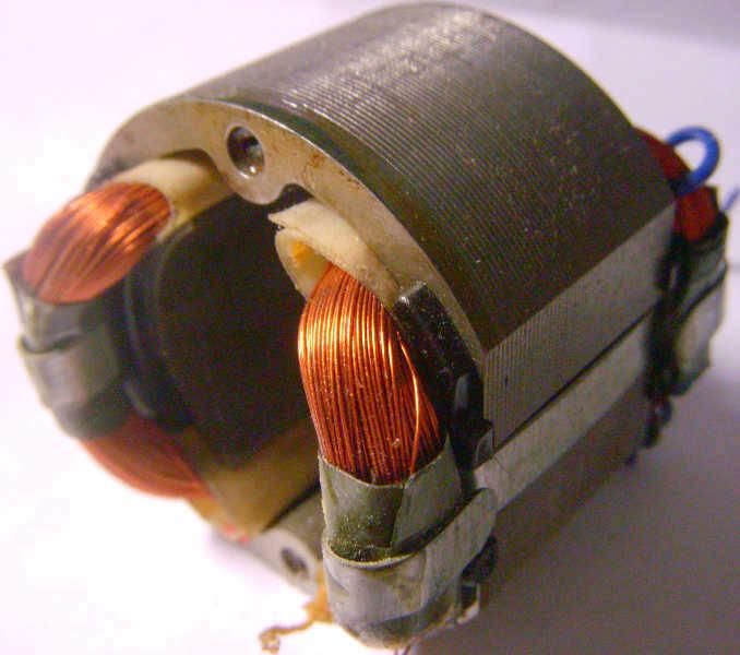 Статор d56*33-L30 двигателя маленького электротриммера под якорь 32 мм