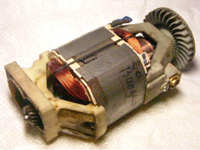 Ремонт электродвигателя электрокосы Forte, Бригадир Standart 1200 Вт