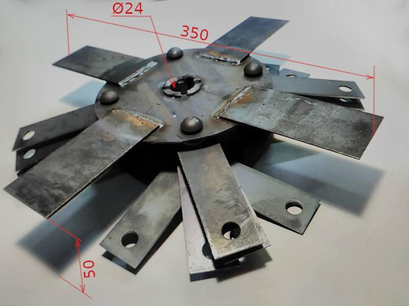 Дробильный узел с молотками для зернодробилки Лан-3