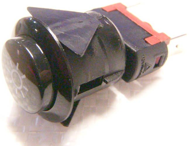 Круглая кнопка с фиксатором для подсветки газовой плиты