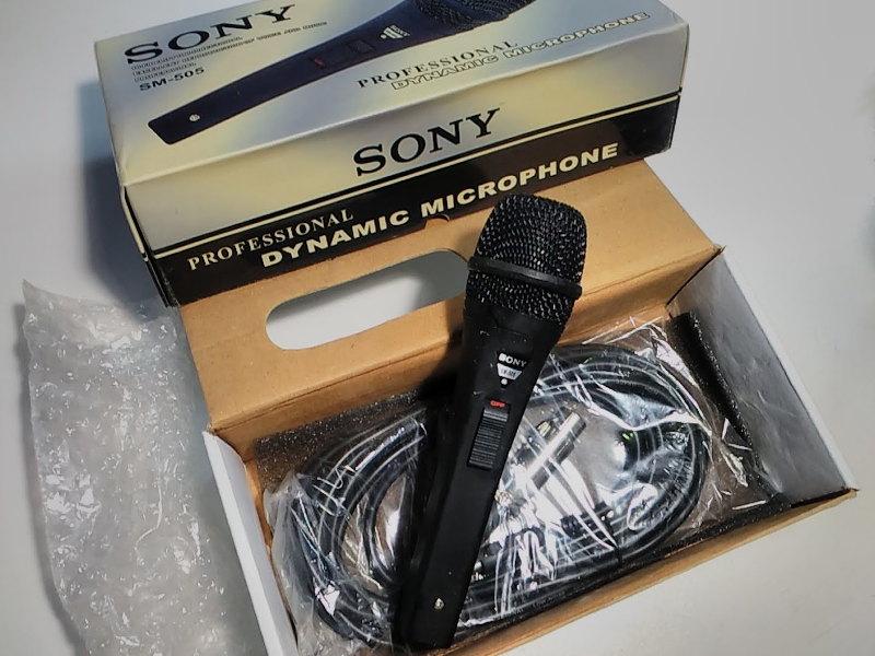 Проводный микрофон Sony SM-505 для домашнего пения