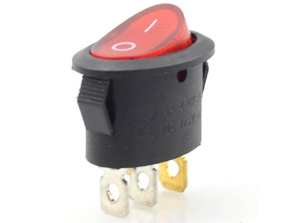 Овальная кнопка 3pin KCD1 3 контакта 6-10A
