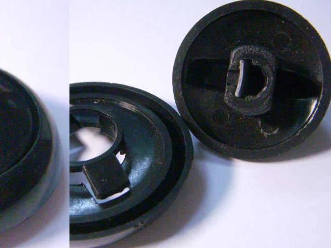 Ручка черного цвета для электродуховки Норд