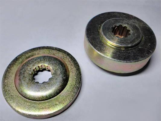 Комплект шлицевых фланцев d12*45 редуктора триммера на 10 шлицов