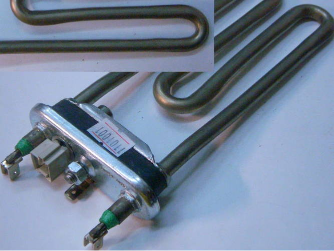 Нагревательный тэн 1.7кВт для стиральной машины Indesit термодатчик
