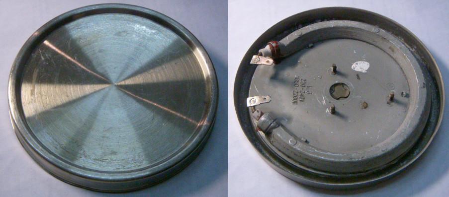 Дисковый тэн чайника 129 мм на трех резьбовых шпильках