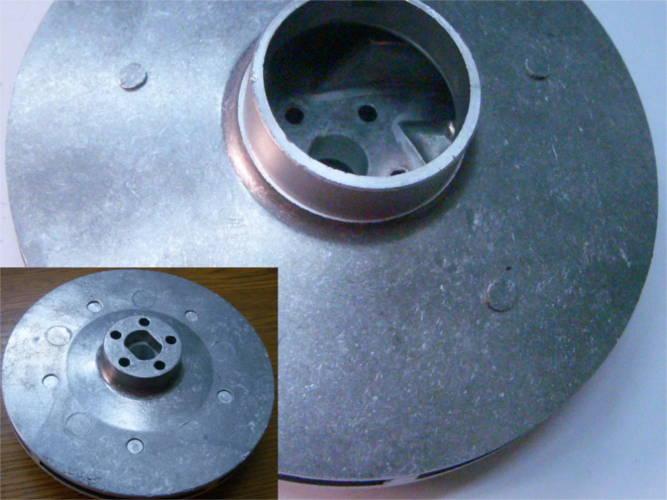 Рабочее колесо 125 мм насоса БЦН 1.1, 3.5-17 под резиновый сальник