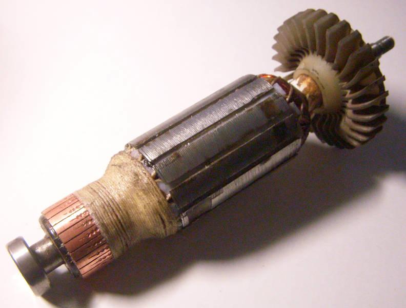 Ремонт якоря болгарки Dexton диаметром 34 мм