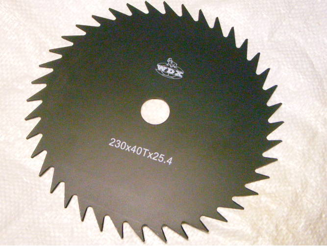 Нож 230 мм на 40 зубов для электрокосы 230 мм