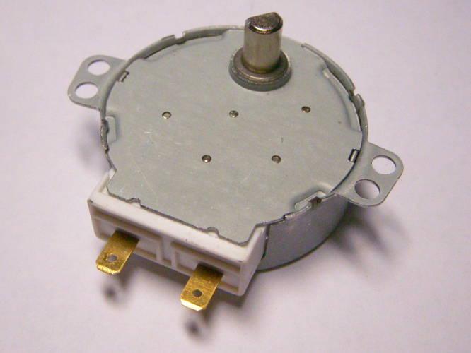 Электродвигатель 220 Вольт вращения тарелки СВЧ печи шток 10 мм
