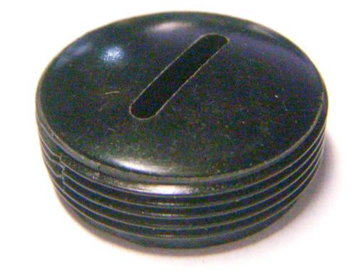 Заглушка щеткодержателя 22 мм под отвертку на внешней резьбе