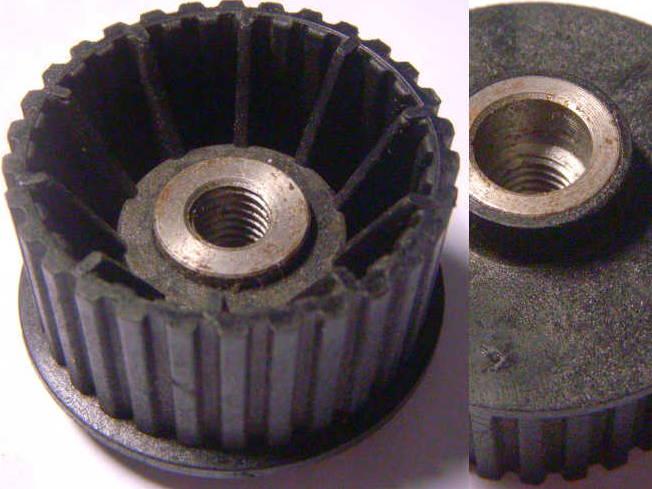 Больший шкив с металлической втулкой для электрорубанка Фиолент