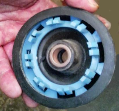 Диафрагма 14x50 мм для стиральной машины с 16-ю защелками