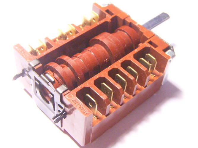 Пяти позиционный переключатель тенов электродуховки Hansa, Mirta B 602x на 6 выходов