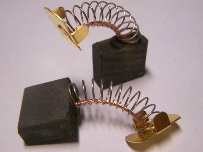 Щетки 7*17*14.5 для цепной электропилы Интерскол, Тайга, Craft-Tec, Темп, Витязь