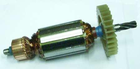 Якорь двигателя дисковой электропилы Craft-Tec (L185мм, ∅43мм) 6 зубьев)
