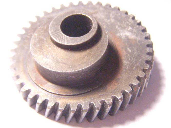 Шестерня электролобзика 44,5 мм, штырек 5*5 мм, посадка 9 мм, 41 зуб