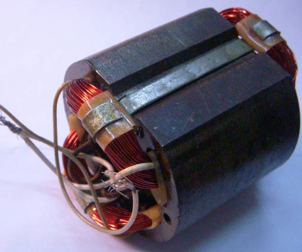 Статор двигателя вертикального фрезера Powertec PT1701