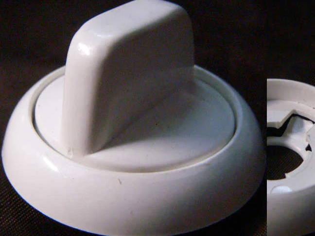 Переключатель для электроплиты Nord белого цвета