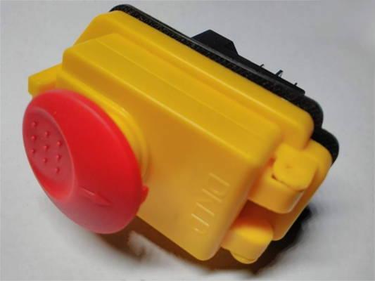 Силовая влагозащищенная кнопка DKLD DZ-6 IP55 для бетономешалки на 15 А