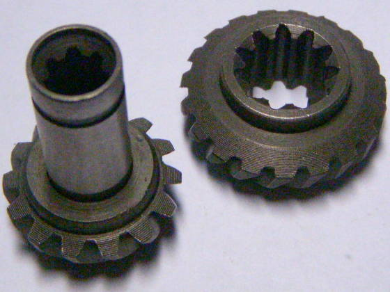 Коническая пара шестерней 7 и 11 шлицов для электрокосы ВИТЯЗЬ КГ-2500