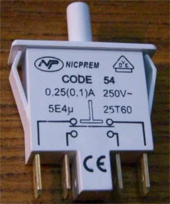 Кнопка открывания двери холодильников на 4 контакта
