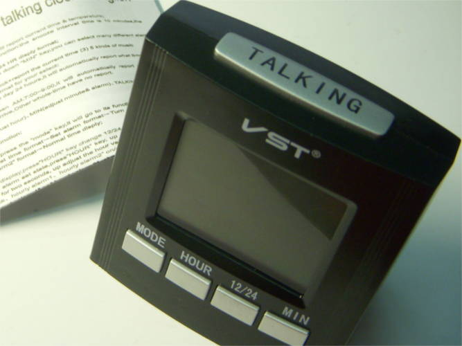 Настольные говорящие (по русски) электронные часы с LED дисплеем