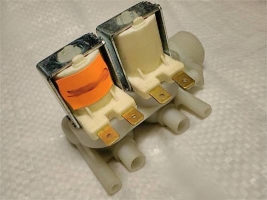 Клапан стиральной машины Ariston, Indesit 2/90 двойной клеммы