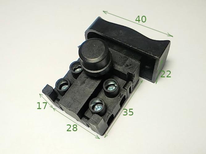 Кнопка FA4-5/2D-02 (22*40) с фиксатором для болгарки
