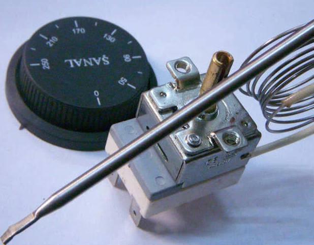 Капилярный регулятор ISITAN WY250E-P 40°C...+250°C для жарочного шкафа