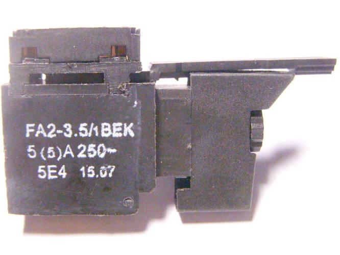 Кнопка 3.5 Ампера для электродрели Фиолент 500Вт