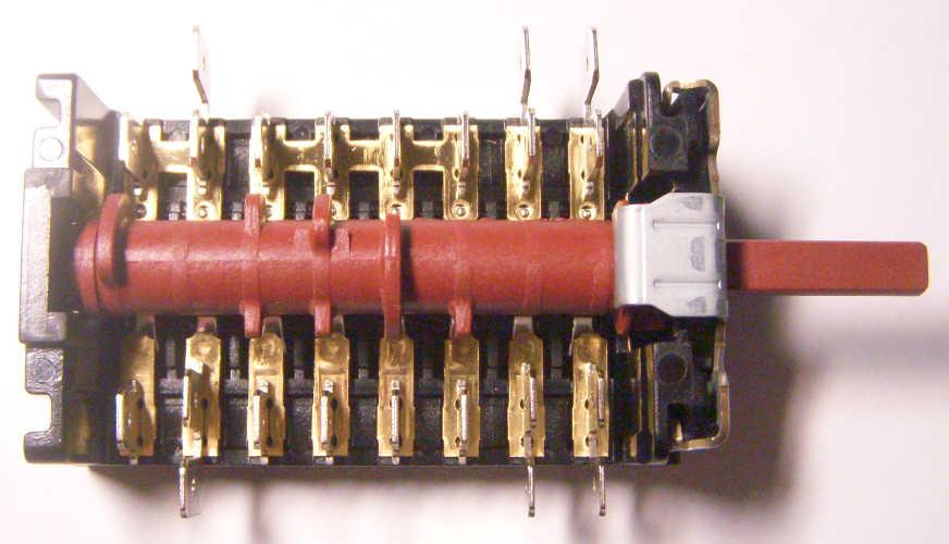 8-ми контактный девятипозиционный переключатель Spain 7LA Gottak 800810K Hansa