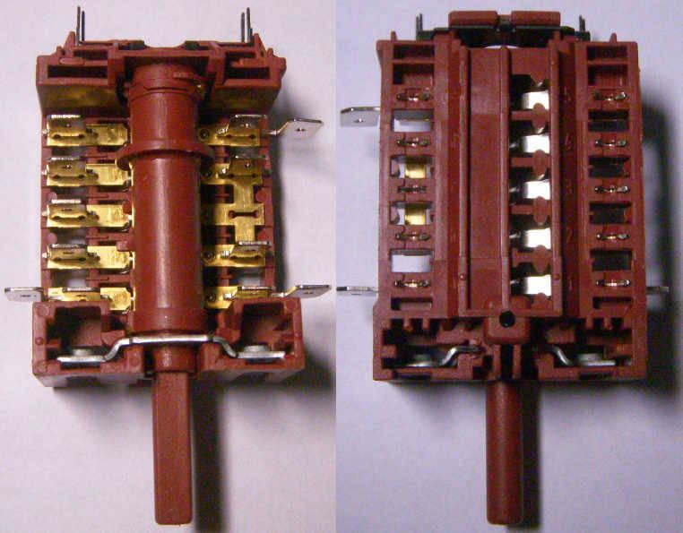5-ти контактный переключатель 820510 на 16 Ампер для электроплиты Hansa, Candy