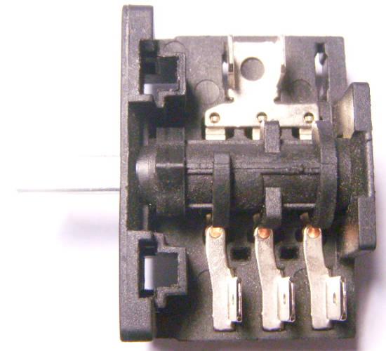 Переключатель электроплиты Luxell с контактами 3+2 внутри